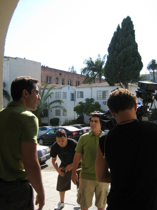 Nick Gregorio on the set of Green