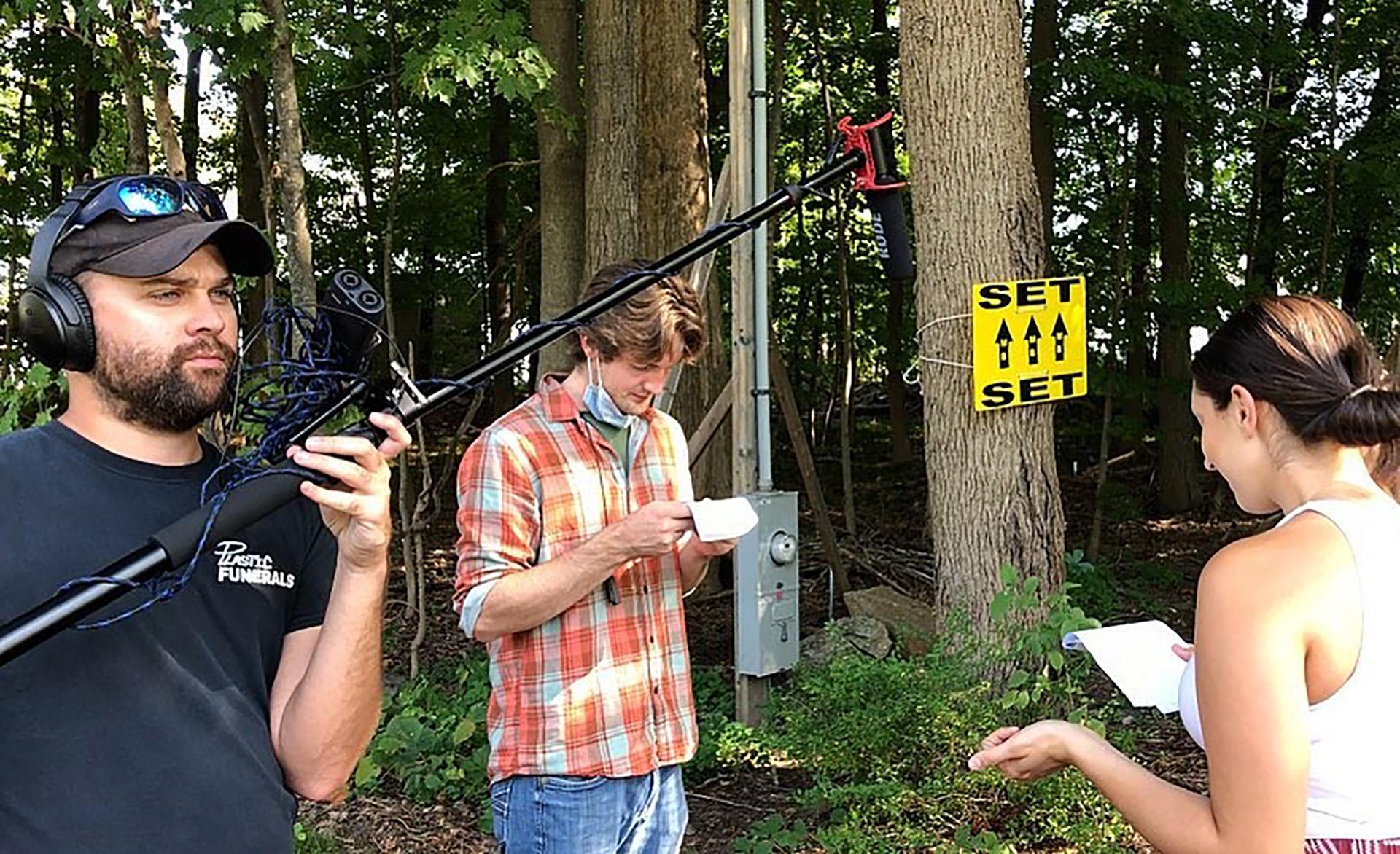 behind the scenes on Dominoes