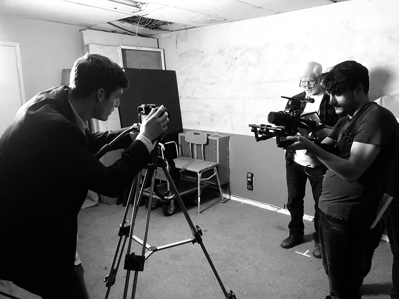 Jonathan Latona on the set of DOUG